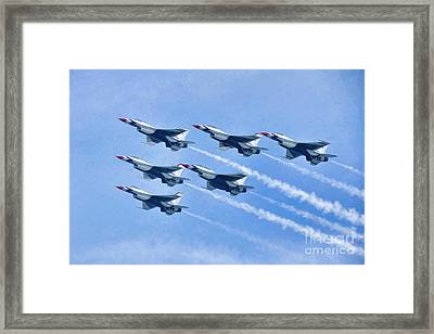 Cleveland National Air Show - Air Force Thunderbirds - 1 Framed Print