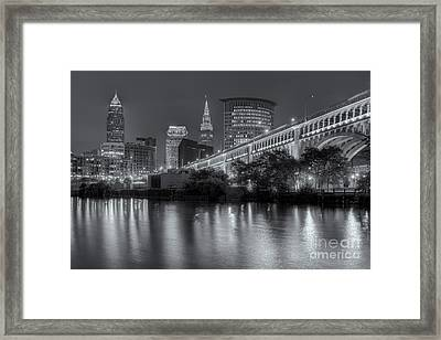 Cleveland Night Skyline IIi Framed Print