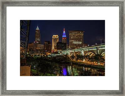 Cleveland Nightscape Framed Print