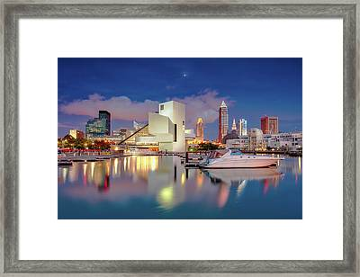 Framed Print featuring the photograph Cleveland Ohio 2  by Emmanuel Panagiotakis