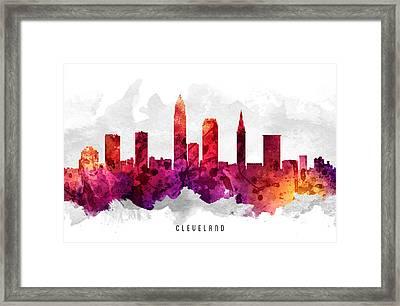 Cleveland Ohio Cityscape 14 Framed Print