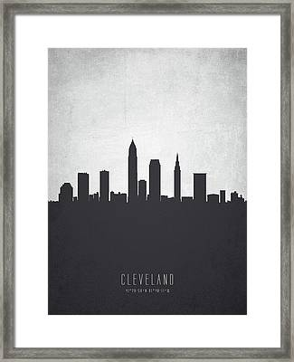 Cleveland Ohio Cityscape 19 Framed Print