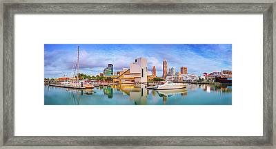 Framed Print featuring the photograph Cleveland  Pano 1  by Emmanuel Panagiotakis