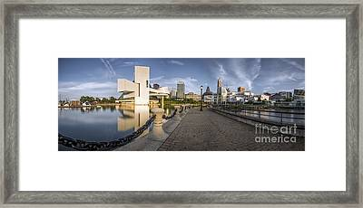 Cleveland Panorama Framed Print by James Dean