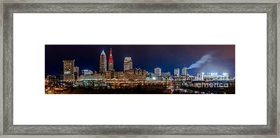 Cleveland Panoramic  Framed Print by Frank  Cramer