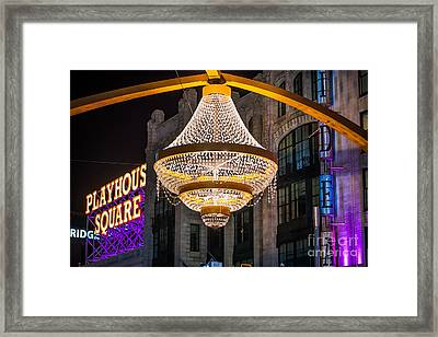 Cleveland Playhouse Square Chandelier Framed Print by Frank Cramer