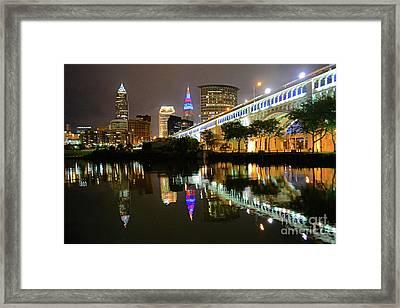 Cleveland Rocks Framed Print