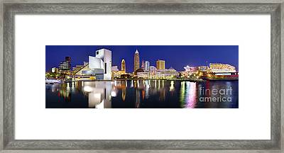Cleveland Skyline At Dusk Framed Print