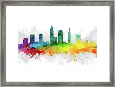 Cleveland Skyline Mmr-usohcl05 Framed Print