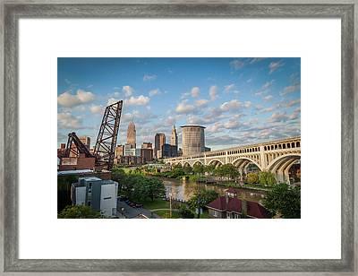 Cleveland Skyline Vista Framed Print