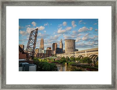 Cleveland Summer Skyline  Framed Print