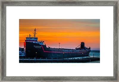 Cleveland Sunset Framed Print