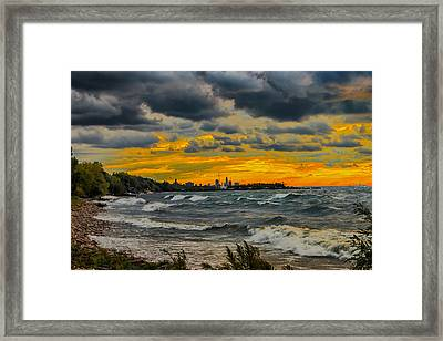 Cleveland Waves Framed Print