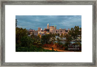 Cleveland Wide View Framed Print by Frank Cramer