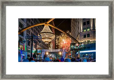 Cleveland Playhouse Square Winterfest Fireworks 2015 Framed Print by Frank Cramer