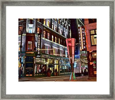 Clevelands East Fourth Framed Print by Frozen in Time Fine Art Photography