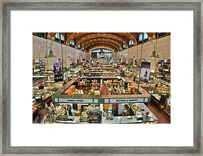 Clevelands Famed Westside Market Framed Print by Frozen in Time Fine Art Photography