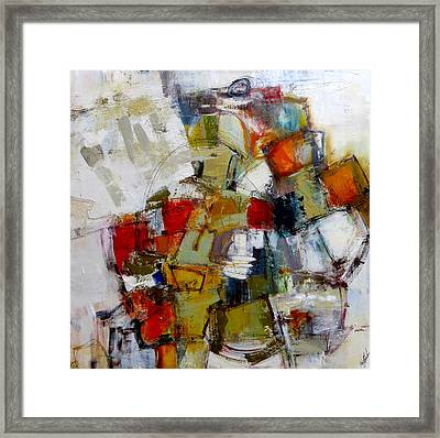 Framed Print featuring the painting Clever Clogs by Katie Black