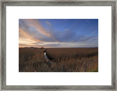 Cley Marshes  Framed Print by Liz Pinchen