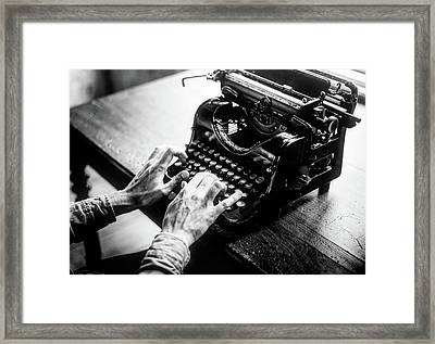 Click Clack Framed Print by Raw Pixel