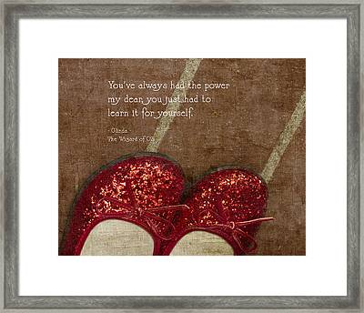 Click Your Heels Framed Print by Rebecca Cozart