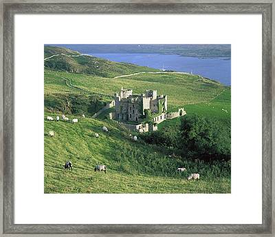 Clifden Castle, Co Galway, Ireland 19th Framed Print