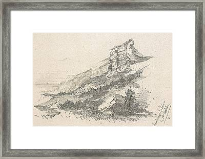 Cliff At Sainte Adresse Framed Print
