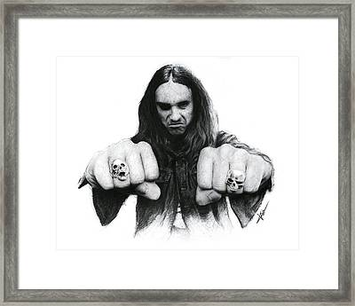 Cliff Burton Framed Print