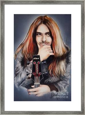 Cliff Burton Framed Print by Melanie D