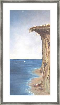 Framed Print featuring the painting Cliff by Diane Daigle
