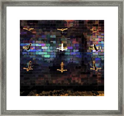 Framed Print featuring the photograph Cliff Diver Wall by Steve Siri