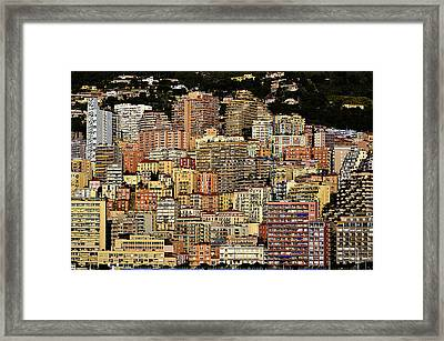Cliff Dwellers Of Monte Carlo Framed Print
