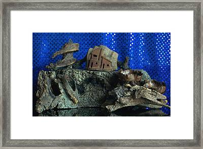 Cliff Dwelling Framed Print by Carolyn Cable