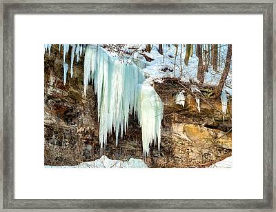 Cliff Ice Framed Print by Kenneth Sponsler