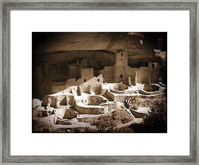 Framed Print featuring the photograph Cliff Palace Mesa Verde by Kurt Van Wagner