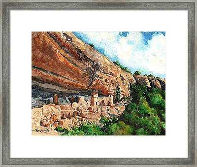 Cliff Palace Mesa Verde Framed Print by Timithy L Gordon