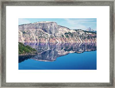 Cliff Rim Of Crater Lake Framed Print by Frank Wilson