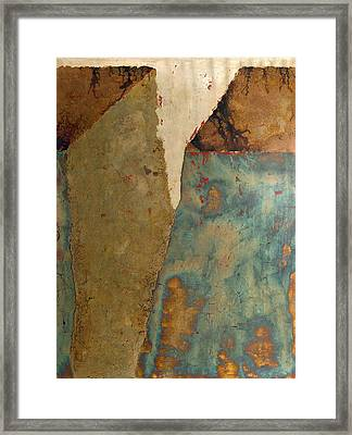 Cliff Two Framed Print by Wayne Berger