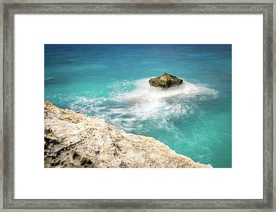 Cliff Views In Negril Framed Print