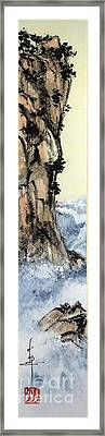 Cliff With Waves Framed Print by Linda Smith