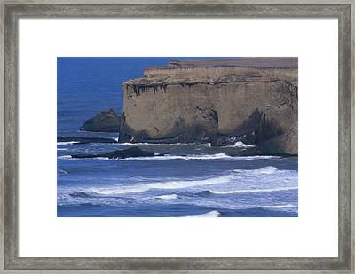 Cliffs And Surf - Santa Cruz County Framed Print