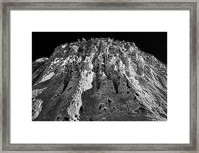 Cliffs At Bandelier #2 Framed Print by Stuart Litoff