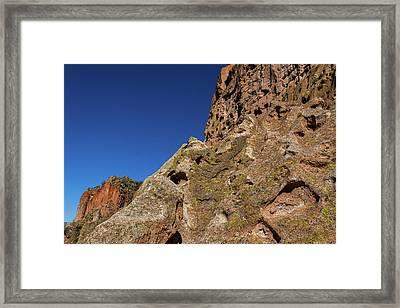 Cliffs At Bandelier Framed Print by Stuart Litoff