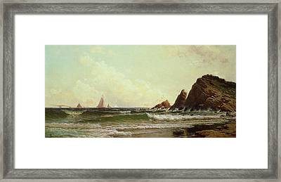 Cliffs At Cape Elizabeth Framed Print by Alfred Thompson Bricher