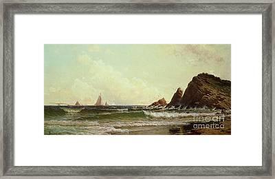 Cliffs At Cape Elizabeth Framed Print by Alfred Thompson Bricher