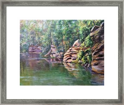 Cliffs At Lake Nichol Framed Print