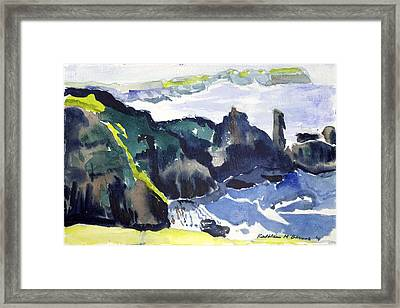 Cliffs In The Sea Framed Print