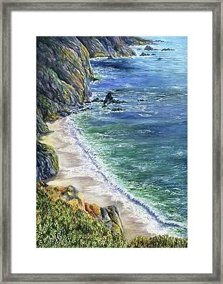 Cliffs Framed Print by Karen Wright