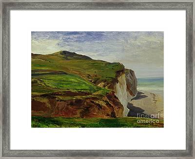 Cliffs Framed Print by Louis Eugene Gabriel Isabey