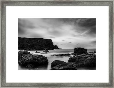 Cliffs Near Causeway Framed Print